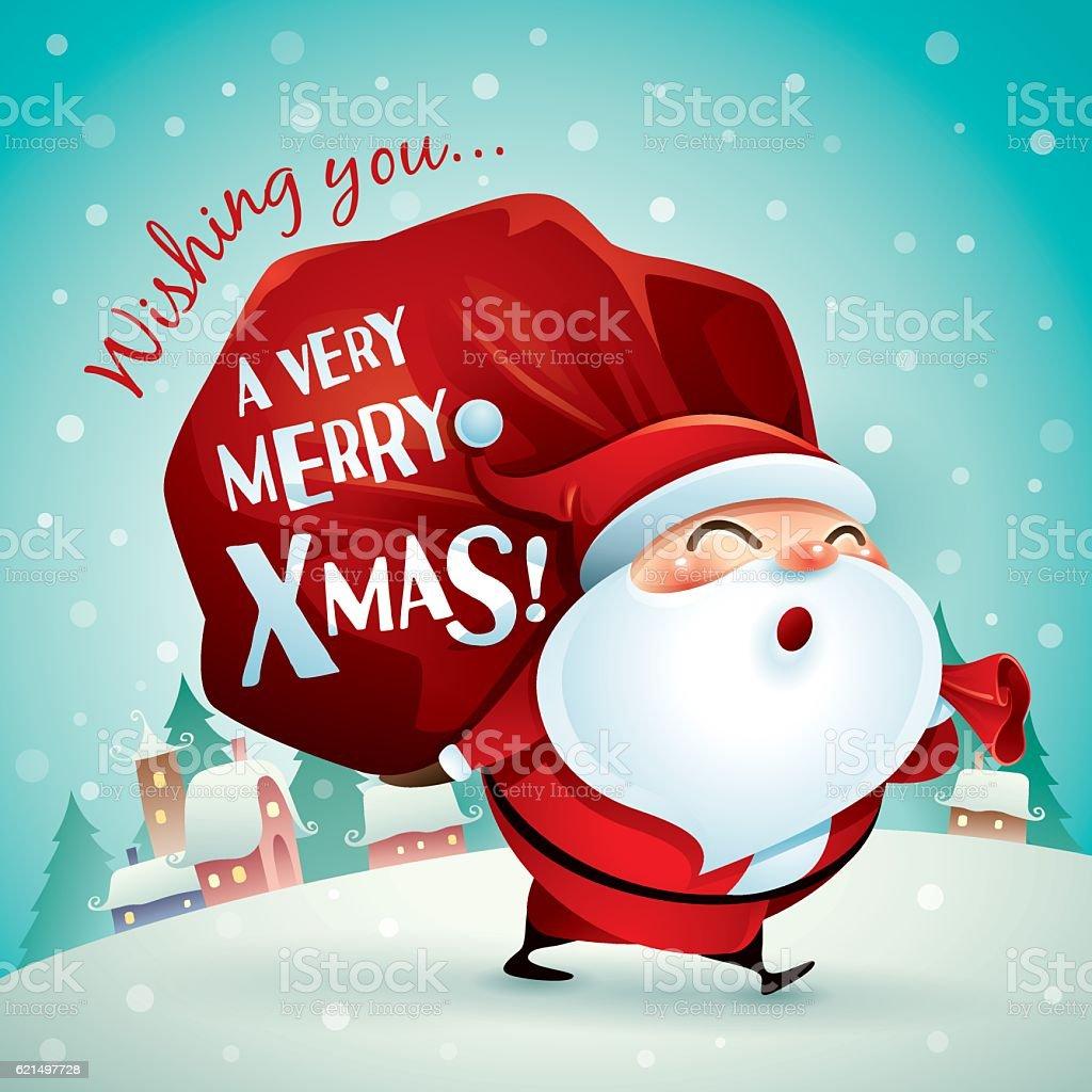 Wishing you a very Merry Christmas! Lizenzfreies wishing you a very merry christmas stock vektor art und mehr bilder von geschenk
