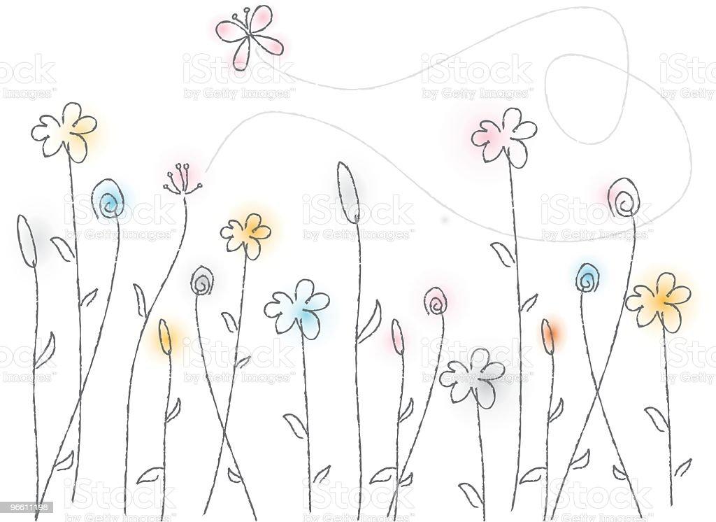 Wispy Flowers - Royaltyfri Blomma vektorgrafik