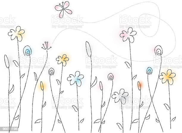 Wispy Flowers-vektorgrafik och fler bilder på Blomma