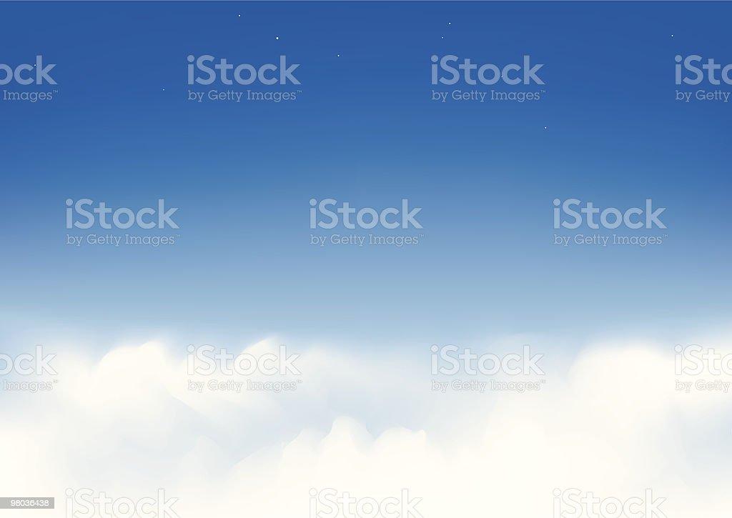 Sopra le nuvole sopra le nuvole - immagini vettoriali stock e altre immagini di blu royalty-free