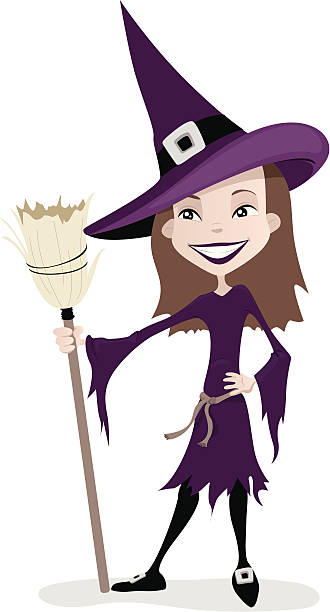Witch Costume vector art illustration