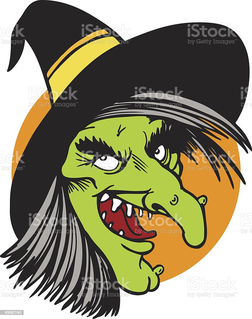 Witch Face Drawing Stock Illustration - Download Image Now ...