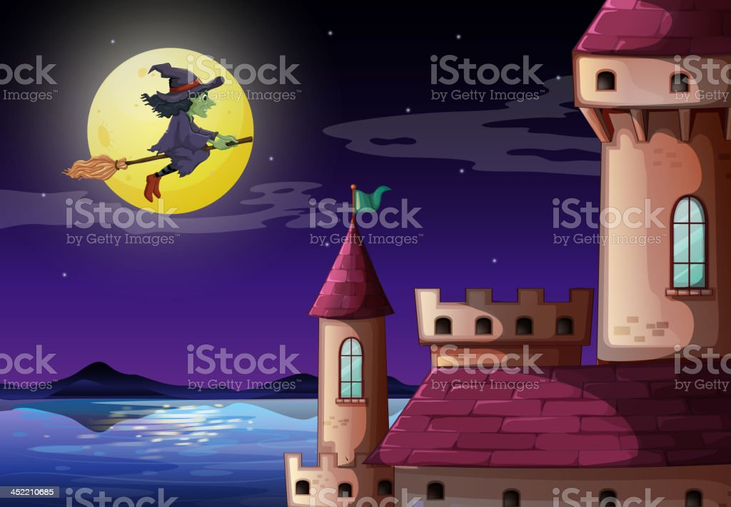 Witch going to the castle royalty-free witch going to the castle stock vector art & more images of adult