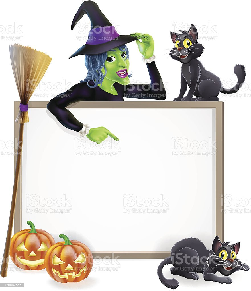 Witch Halloween Sign royalty-free witch halloween sign stock vector art & more images of above