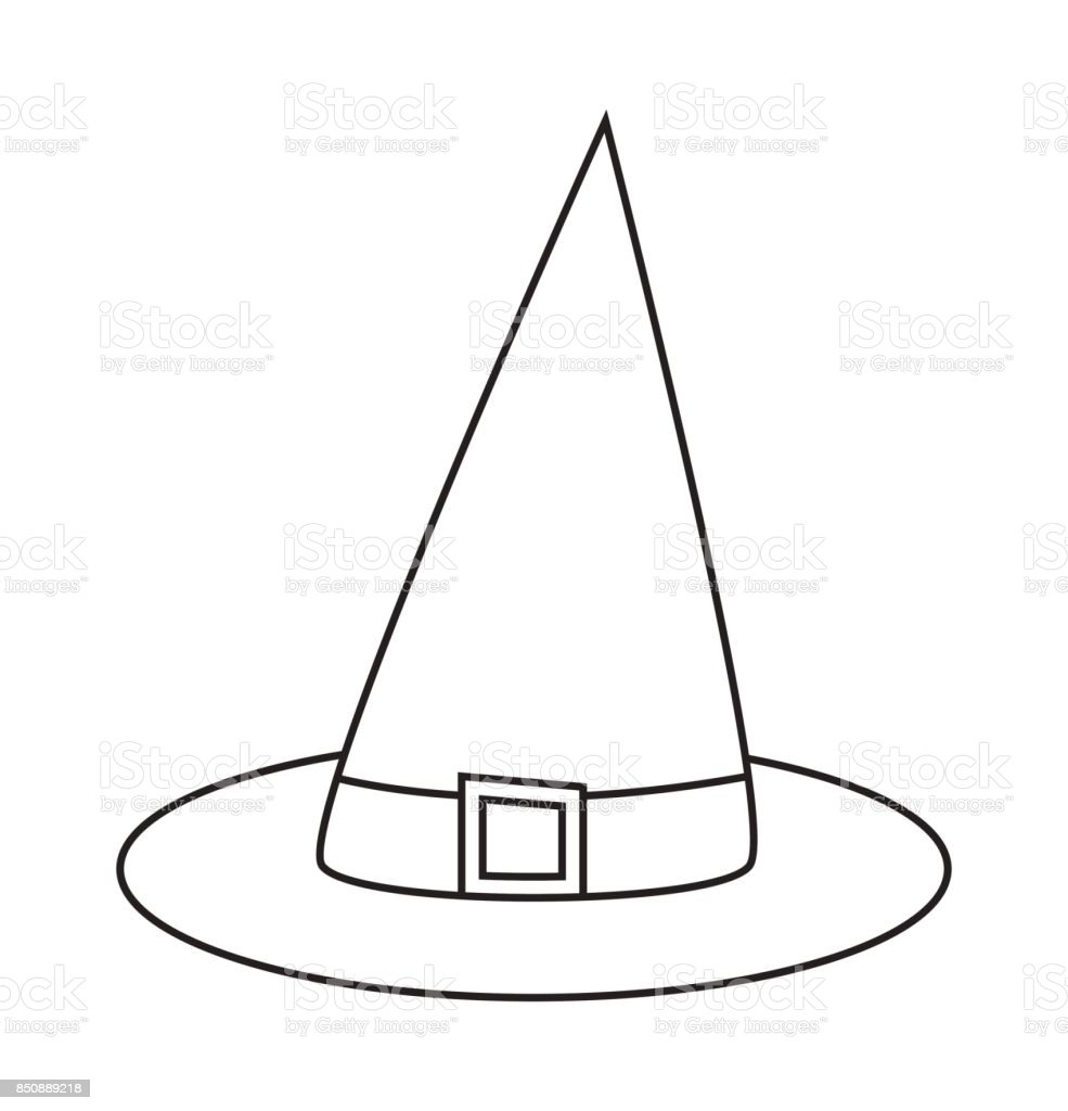 Witch Hat Cartoon Silhouette Vector Symbol Icon Design Beautiful Illustration Isolated On White Background Stock Illustration Download Image Now Istock