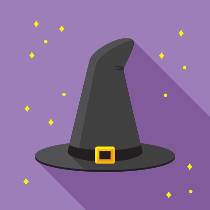 Witch Hat Icon Flat