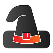 Witch hat line icon. Wizard black magic cap. Halloween party vector design concept, outline style pictogram on white background