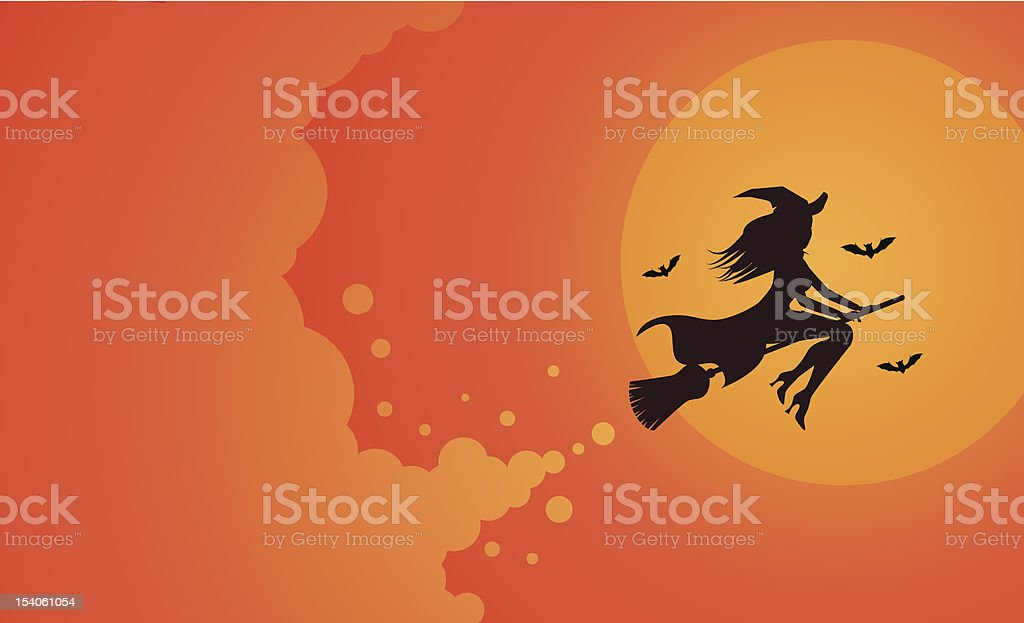Witch Silhouette royalty-free stock vector art