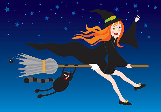 Witch vector art illustration