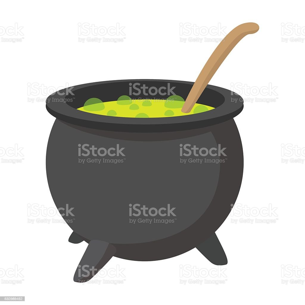 Witching vat cartoon icon vector art illustration