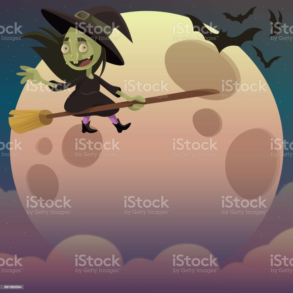 Witch'n Hour vector art illustration