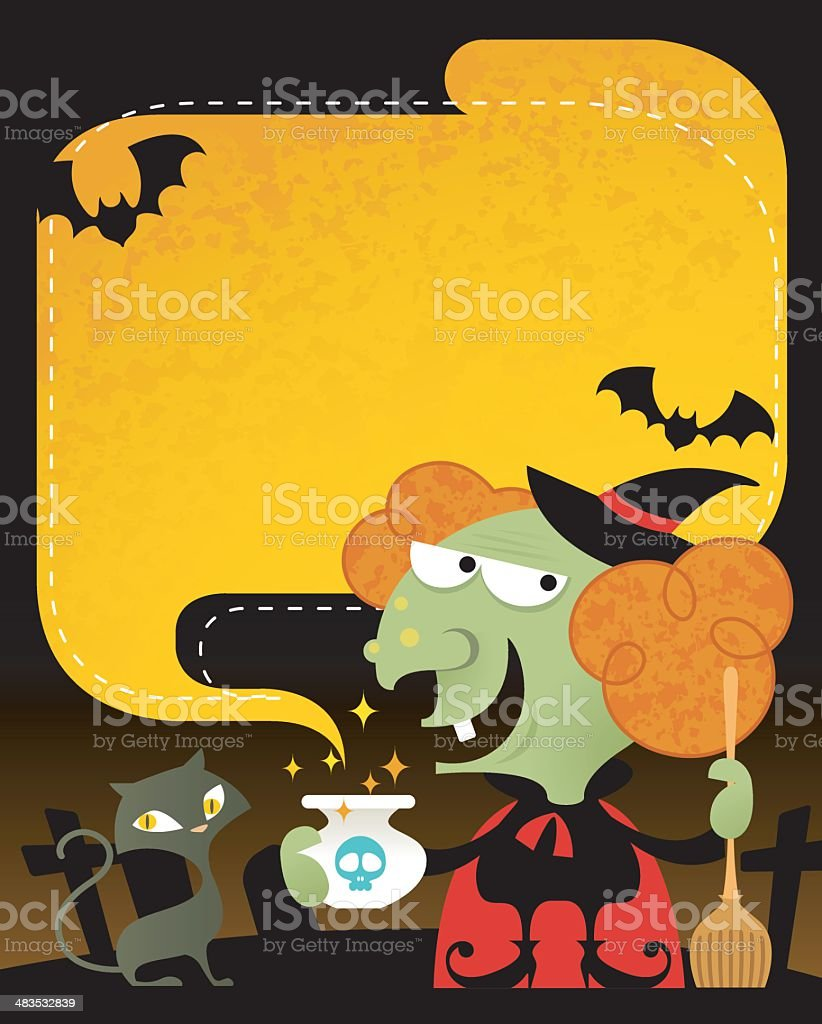Witch's Wish royalty-free stock vector art
