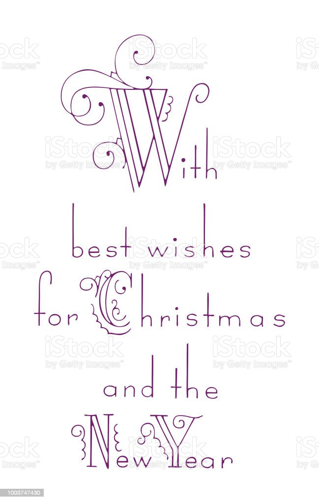 With Best Wishes For Christmas And The New Year Stock Vector Art ...