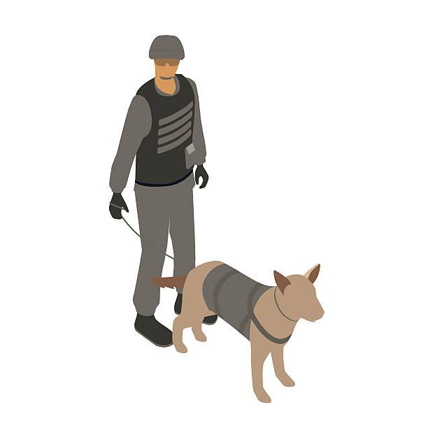 SWAT with dog illustration vector art illustration
