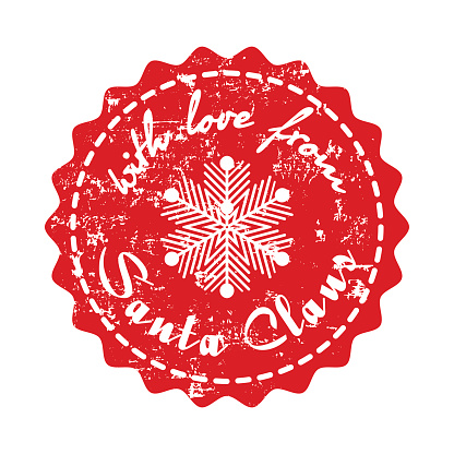 Download With Love From Santa Claus Card Stock Illustration ...