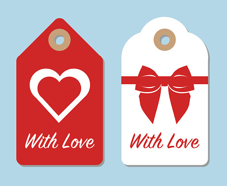 With love gift labels