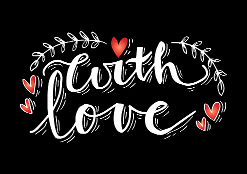 With love hand lettering