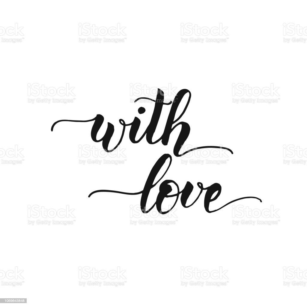 Ilustración De Amor Handwritting Inspirador Y Motivacional