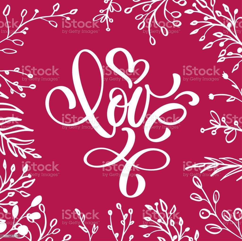 Ilustracion De Con Amor Letras En Forma De Corazon Frase Romantica