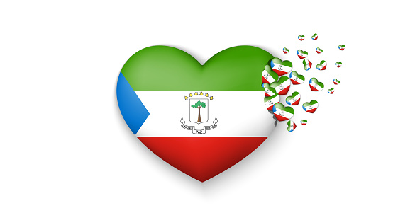 With Love To Equatorial Guinea Country The National Flag Of