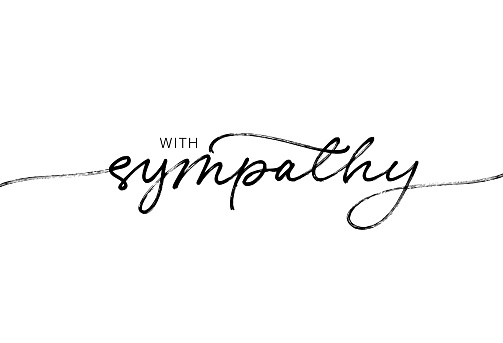 With sympathy ink brush vector lettering. Modern phrase handwritten vector calligraphy.