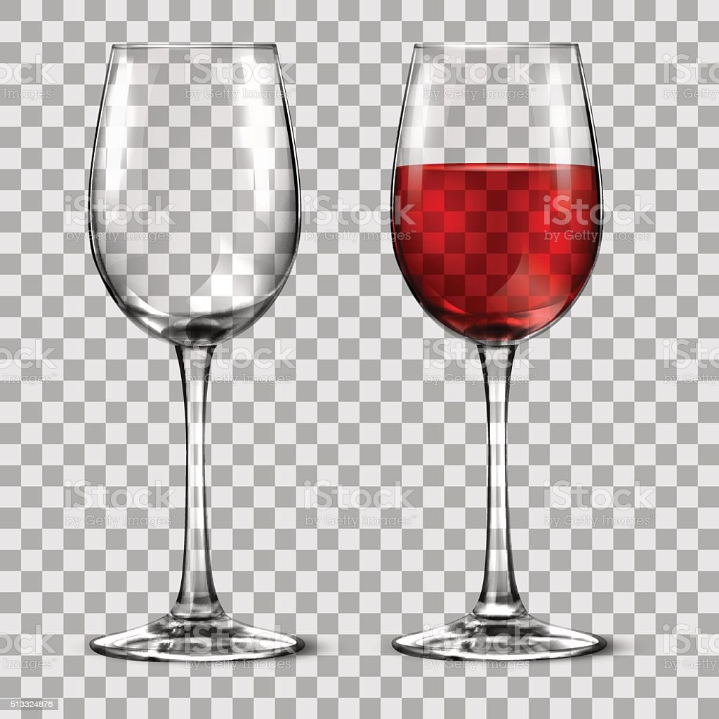 with wine glass vector art illustration