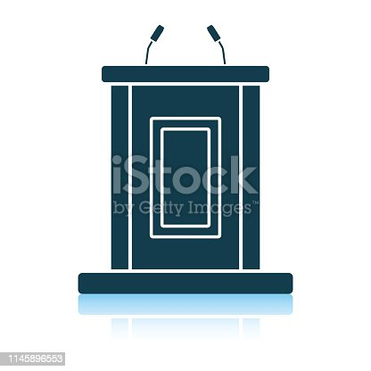 Witness stand icon. Shadow reflection design. Vector illustration.