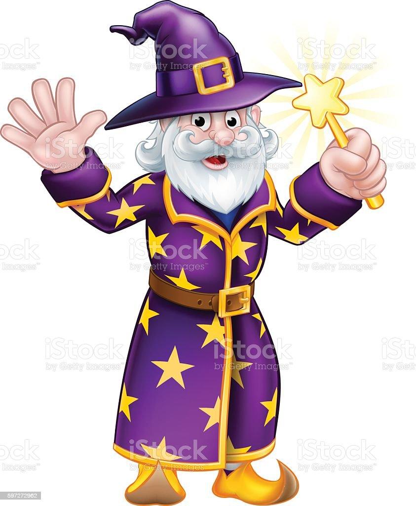 Wizard Cartoon Character wizard cartoon character – cliparts vectoriels et plus d'images de adulte libre de droits