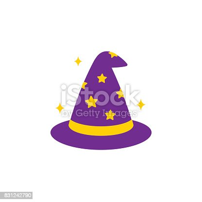 istock Wizard hat icon 831242790