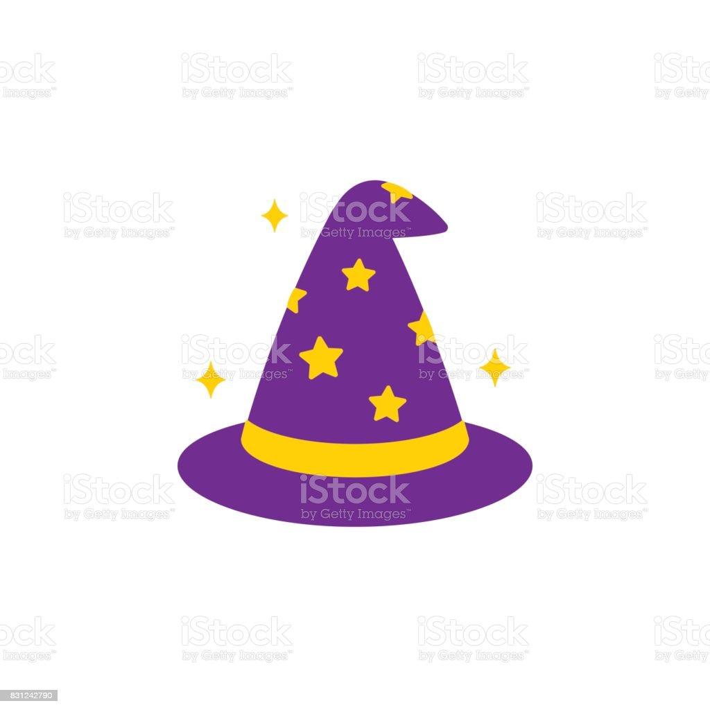 Wizard hat icon vector art illustration