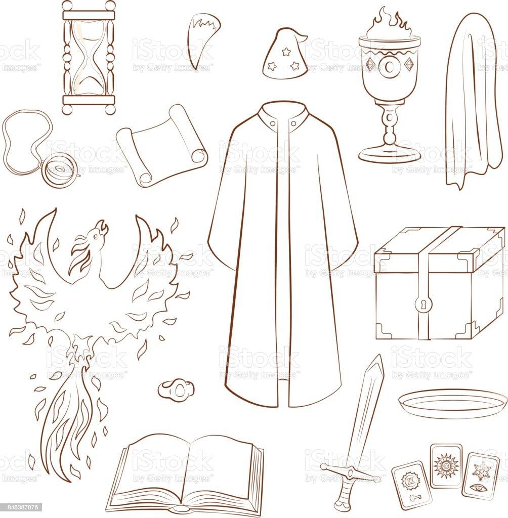 Hechicero - ilustración de arte vectorial