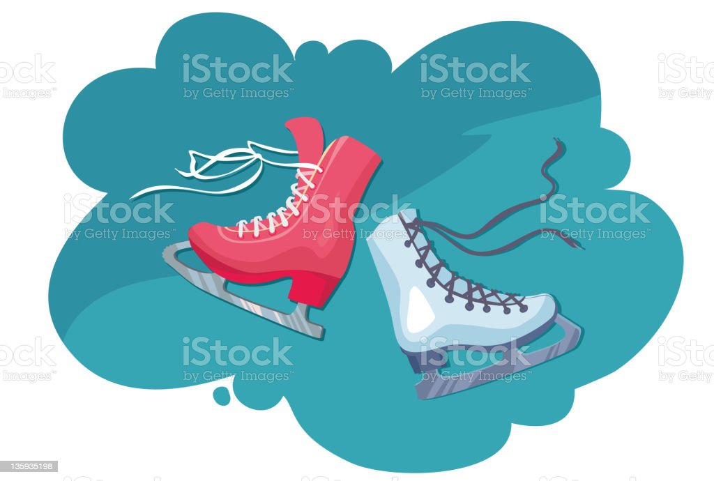wo skates for figure skating - male and female