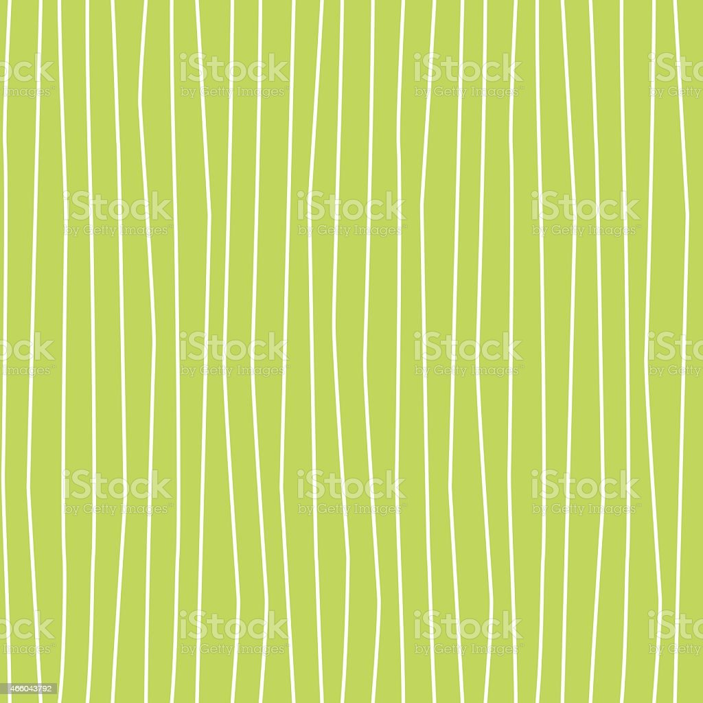 Wobbly Wavy Lines Seamless Pattern Green and White vector art illustration