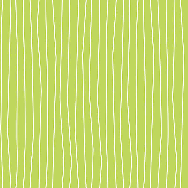 wobbly wavy lines seamless pattern green and white - squiggle line stock illustrations