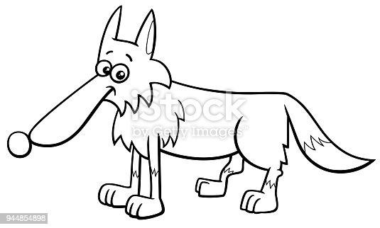 Ilustración de Dibujos Animados De Carácter Animal De Lobo Para ...