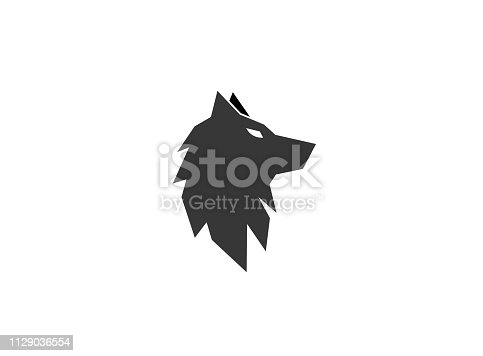 wolf black head or fox for logo