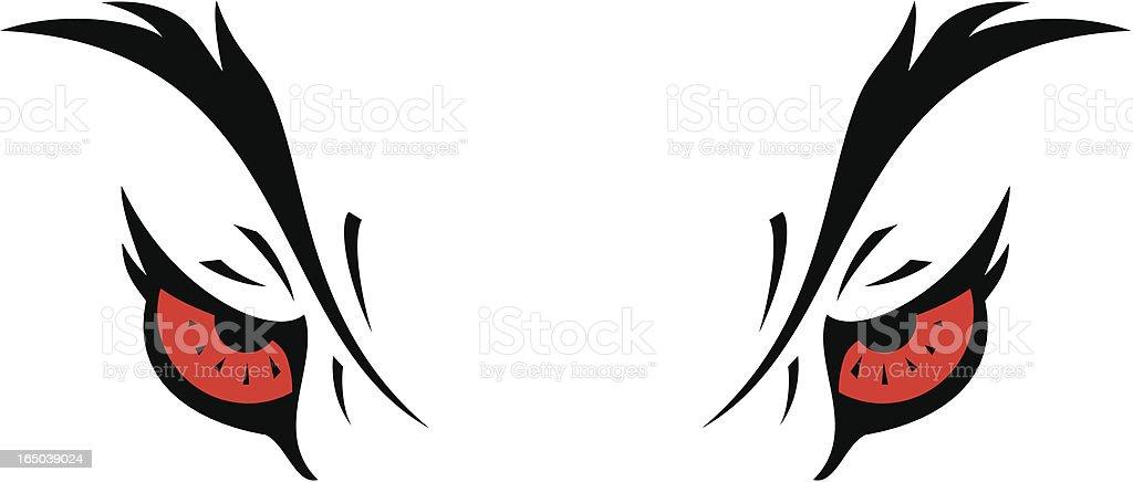 Wolf Eyes vector art illustration