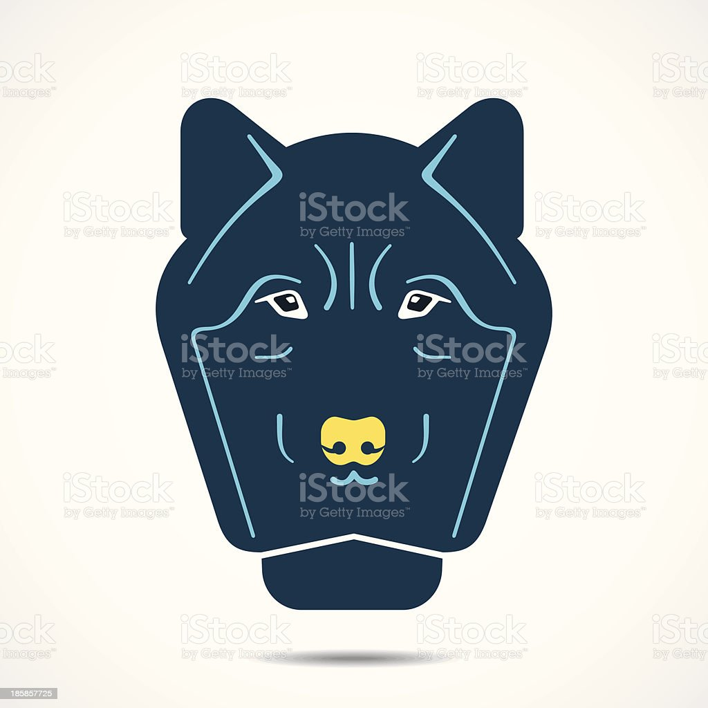 wolf face illustration royalty-free stock vector art