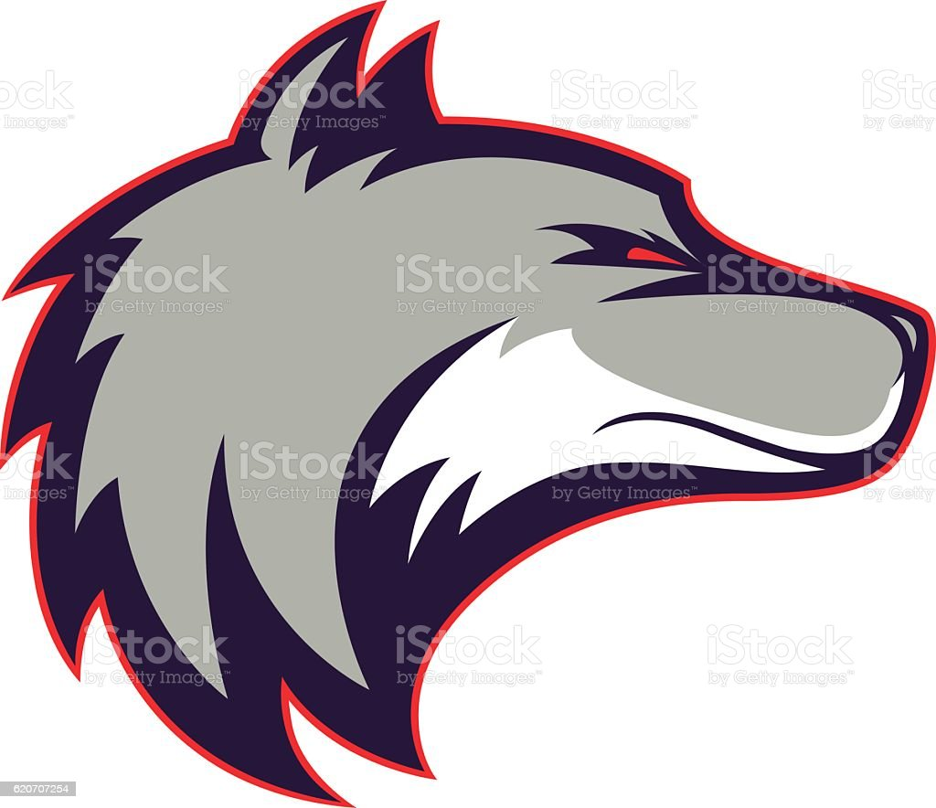 Wolf head mascot vector art illustration