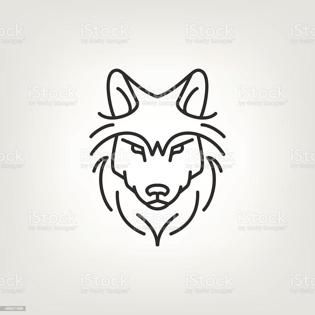 Wolf Kopf Monologosymboldesign Stock Vektor Art Und Mehr Bilder Von