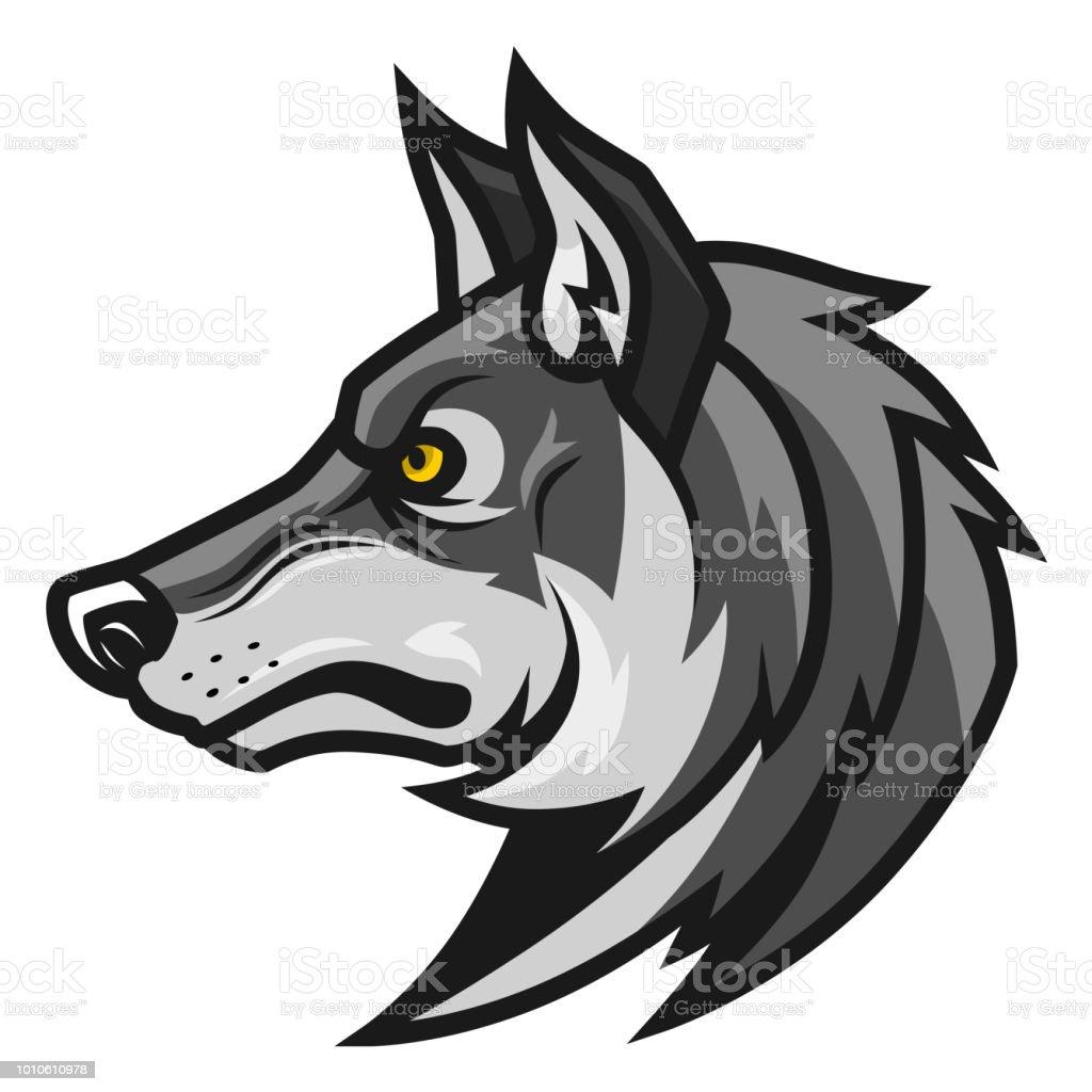 Vetores De Cabeca De Lobo Perfil E Mais Imagens De Animal Istock