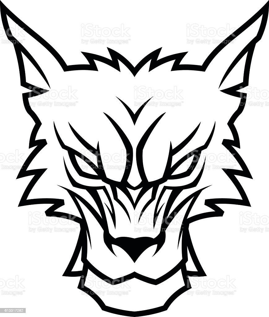 Wolf head vector art illustration