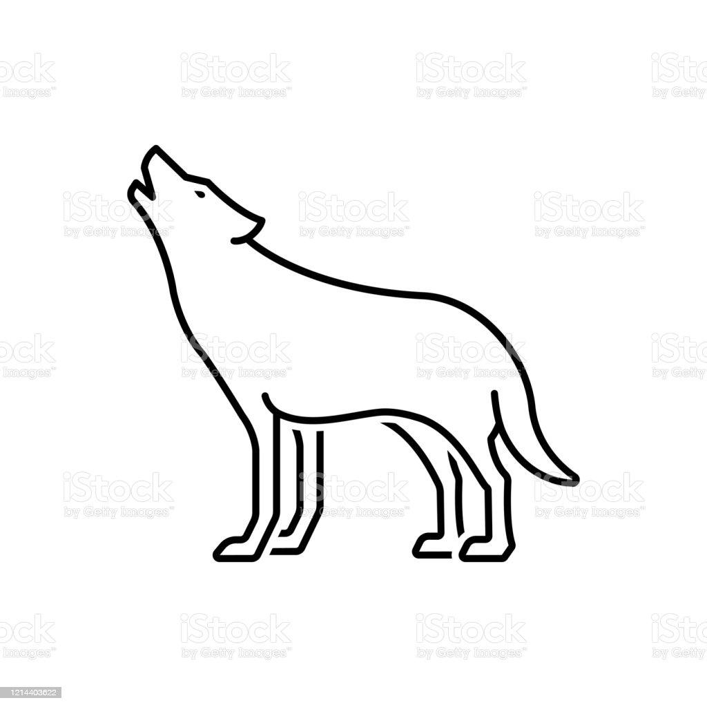 Ilustración De Aullido De Lobo Y Más Vectores Libres De Derechos De Animal Istock