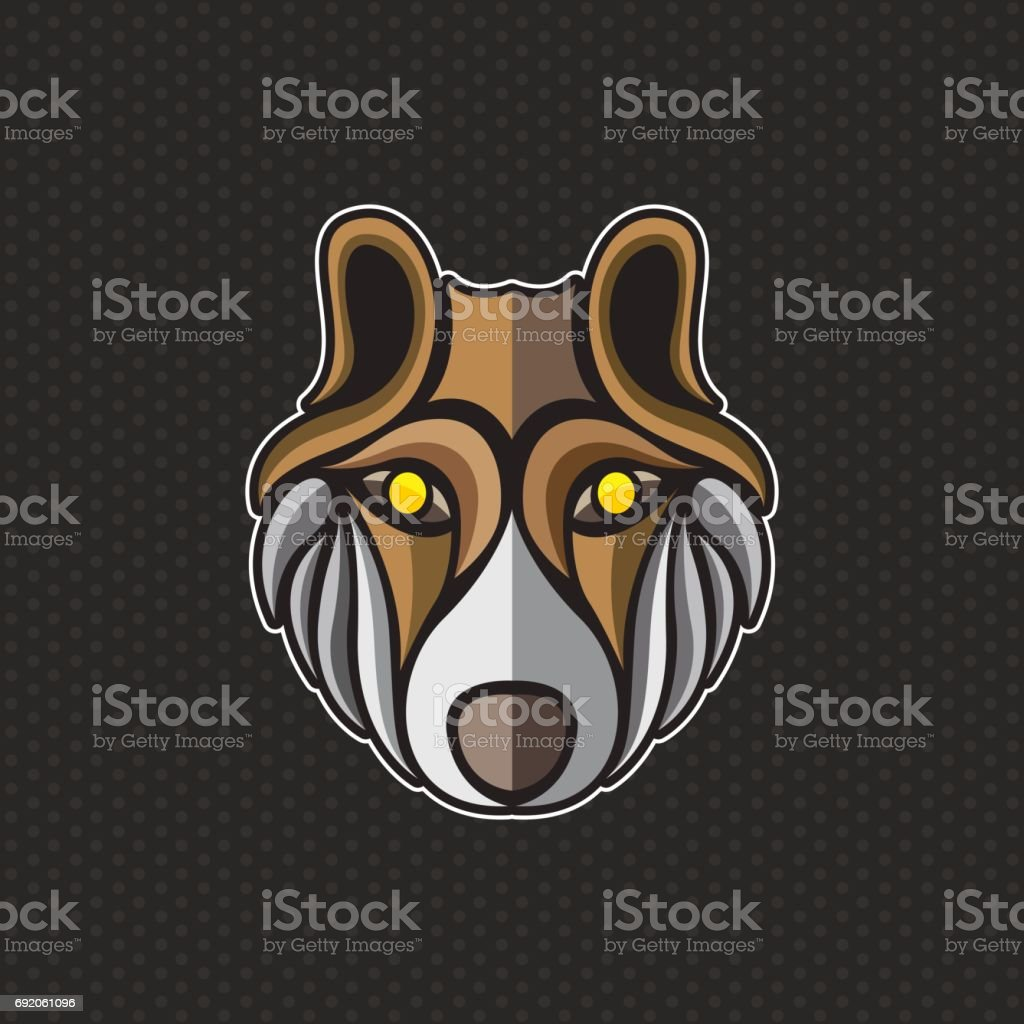 wolf icon design template wolf head icon vector illustration stock