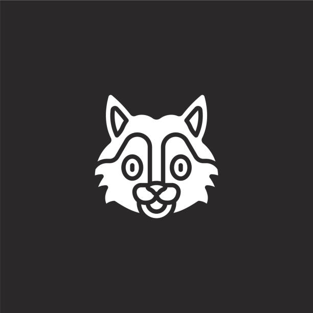 wolf icon. Filled wolf icon for website design and mobile, app development. wolf icon from filled animal avatars collection isolated on black background. wolf icon. Filled wolf icon for website design and mobile, app development. wolf icon from filled animal avatars collection isolated on black background. cute wolf stock illustrations