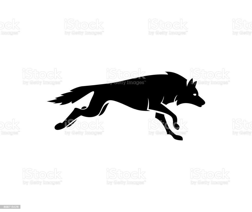 Wolf icon vector art illustration