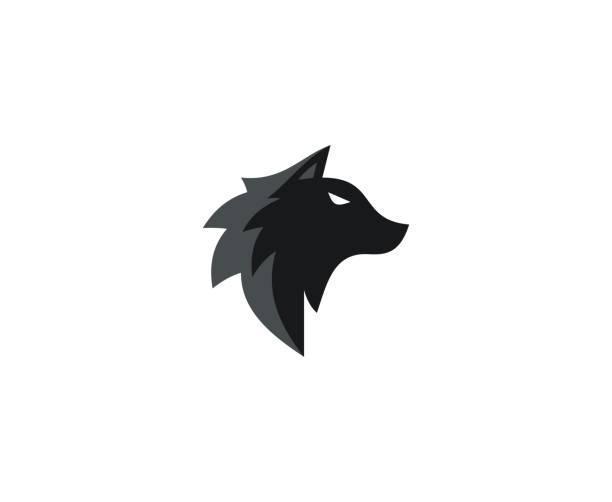 illustrazioni stock, clip art, cartoni animati e icone di tendenza di wolf icon - lupo