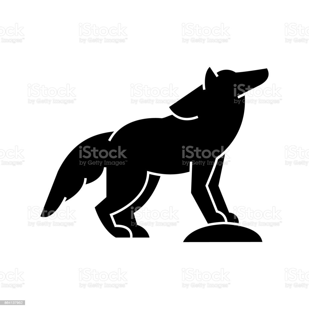 wolf  icon, vector illustration, sign on isolated background royalty-free wolf icon vector illustration sign on isolated background stock vector art & more images of animal