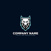 Wolf illustration vector Design template. \nSuitable for Creative Industry, Multimedia, entertainment, Educations, Shop, and any related business