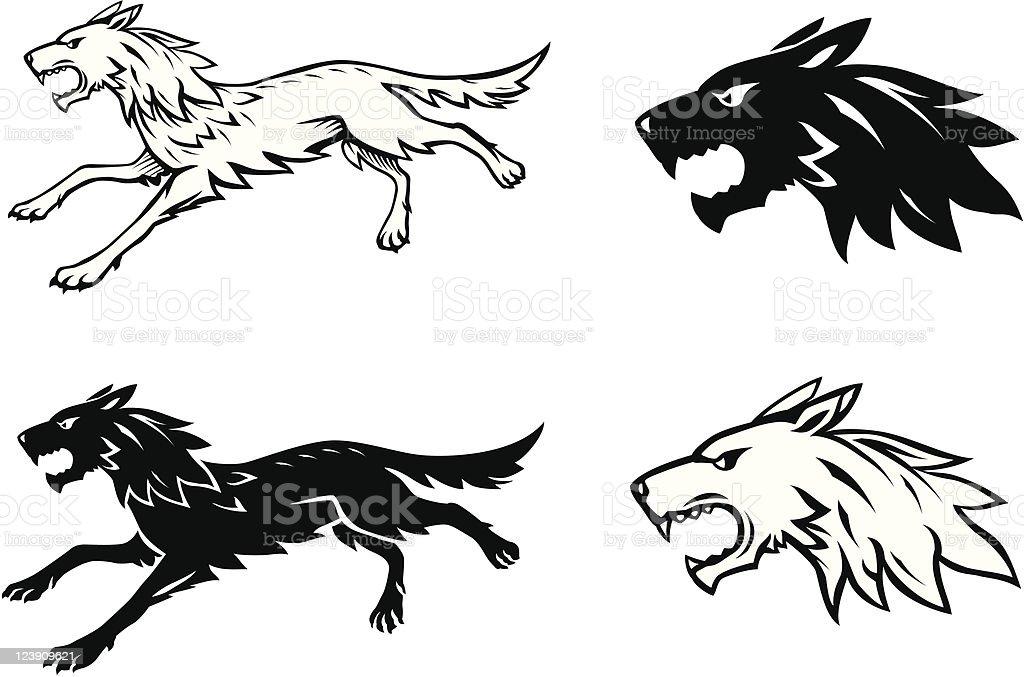 Ilustración de Lobo Medio y más banco de imágenes de Amenazas ...